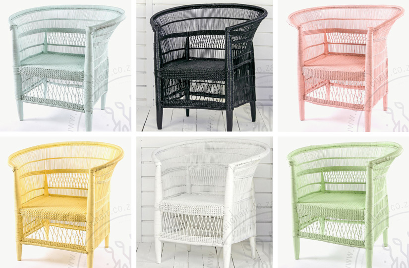 Malawi Chairs in different colours